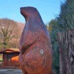 La big marmotte sculptée