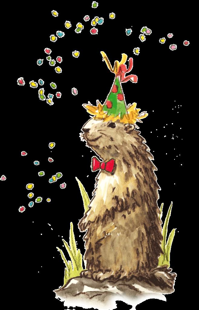La marmottes des Saisies et les cotillons